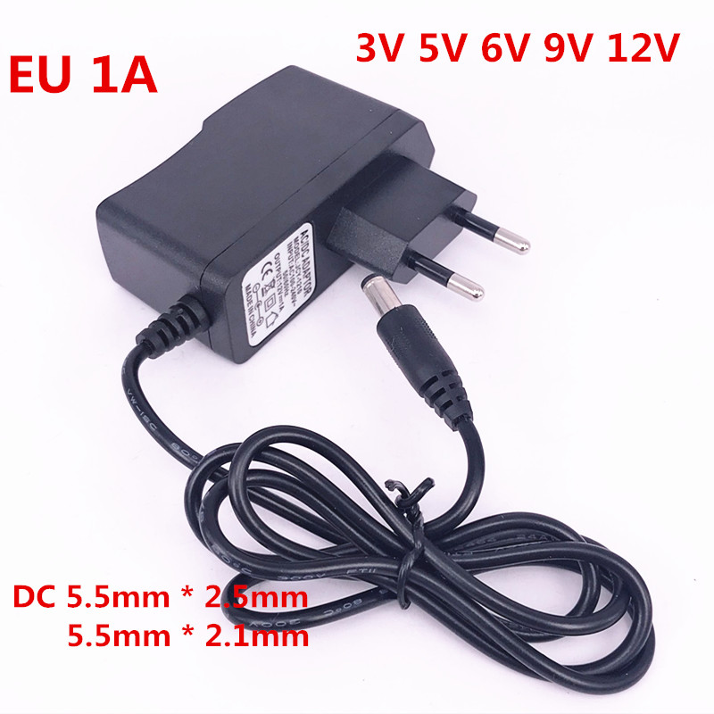 5PCS AC 100-240V to DC12V 1A 1000mA Switching Power Supply Converter Adapter