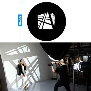 Image 2 - Фокусировка конической проекционной пленки Snoots, графическая DIY Форма вставки фона, светильник, эффект выдолбленной карты, совпадение godox flash