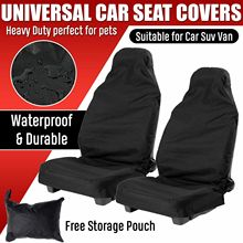 Universal Heavy Duty Front Seat Covers Car Van Black Waterproof Protectors 2Pcs