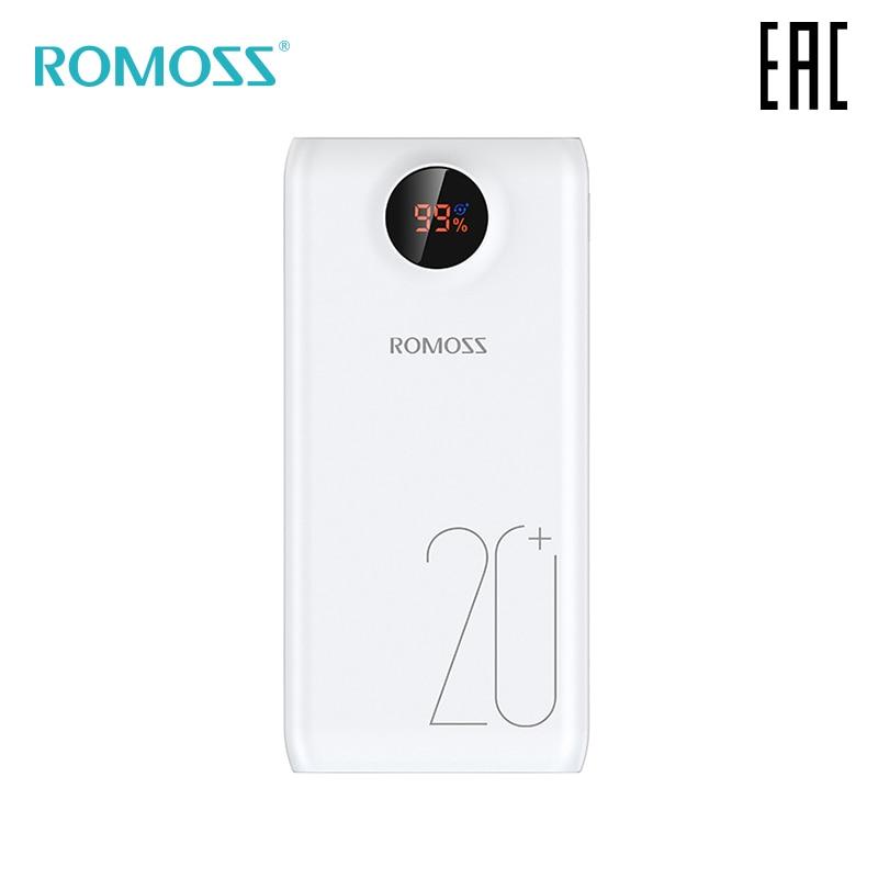 Externe Batterie Romoss SW20 Pro 20000 mAh mit anzeige von ladung poverbank [lieferung aus Russland]