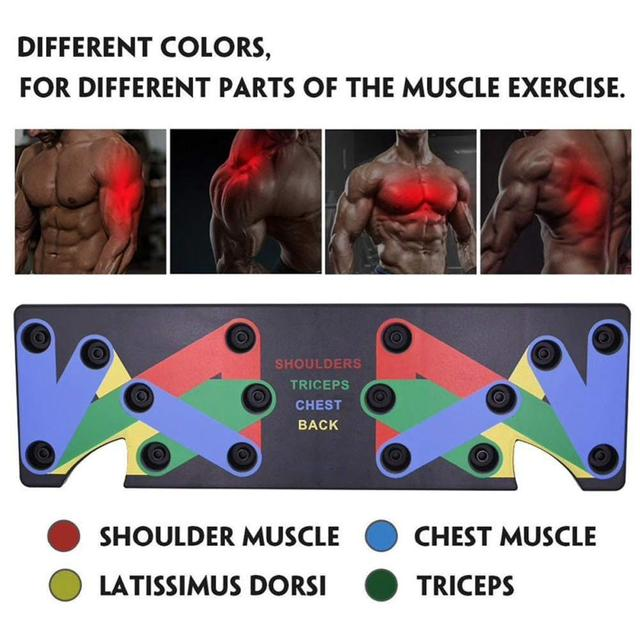 9 in 1 Push Up Rack Training Board ABS abdominal Muscle Trainer  Fitness Equipment 3