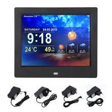8 Inch Multi-function Smart WiFi Digital Photo Frame Clock Weather Forecast TFT 4:3 Screen