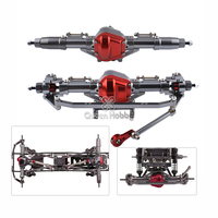 Complete Alloy Front And Rear Axle With Arm CNC Machined For 1:10 1/10 Rc Crawler Car Axial SCX10 RC4WD