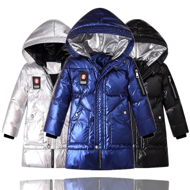 Children Winter Jackets Shinny Fashion Design Kids Thick Warm Outerwear Coat For Boys 120-170CM Parkas LC096