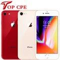 Оригинальный Apple iPhone 8 64 Гб/256 ГБ шестиядерный 3D за счет сканера отпечатков пальцев LTE Wi-Fi 12.0MP 4,7 дюймов отпечатков пальцев мобильный телефон