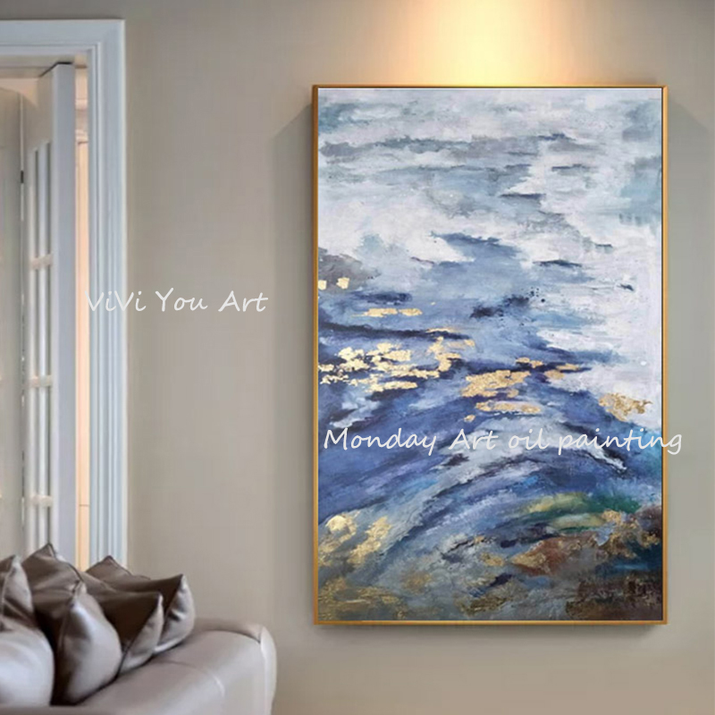 Abstract art large handmade oil paintings wall canvas picture painting for living room decor