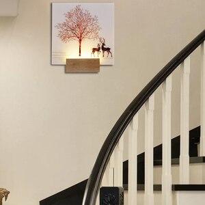 Image 4 - Artpad 現代ロマンチックな無地染め燭台屋内壁 Led アクリル壁壁ランプリビングルームベッドサイドマット暖かい光
