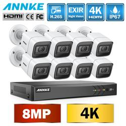 ANNKE 4K Ultra HD 8CH DVR kiti H.265 güvenlik kamerası güvenlik sistemi 8MP CCTV sistemi IR açık gece görüş Video gözetim kitleri