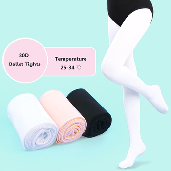 Girls Seamless Pantyhose Black Pink White Tights Yoga Professional Ballerina Dancer Stocking For Dancing 80D - discount item  10% OFF Dance