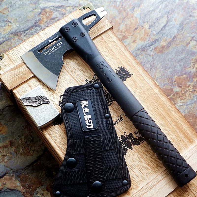 Tactical Axe Tomahawk Army Outdoor Hunting Camping Survival Machete <font><b>Axes</b></font> Hand <font><b>Tools</b></font> Fire Axe Hatchet image