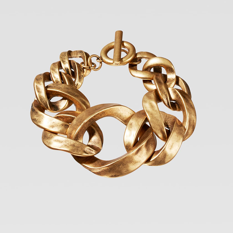 Dvacaman ZA, золотое ожерелье на цепочке, Чокеры для женщин, металлическое круглое звено, массивное ожерелье, s макси панк, модные вечерние ювелирные изделия - Окраска металла: 10