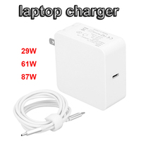 VIPATEY US Plug Mac Book Charger 29W 61W 87W USB C to USB C AC Power Adapter 2M Type C Charge Cable Replacement for MacBook Pro