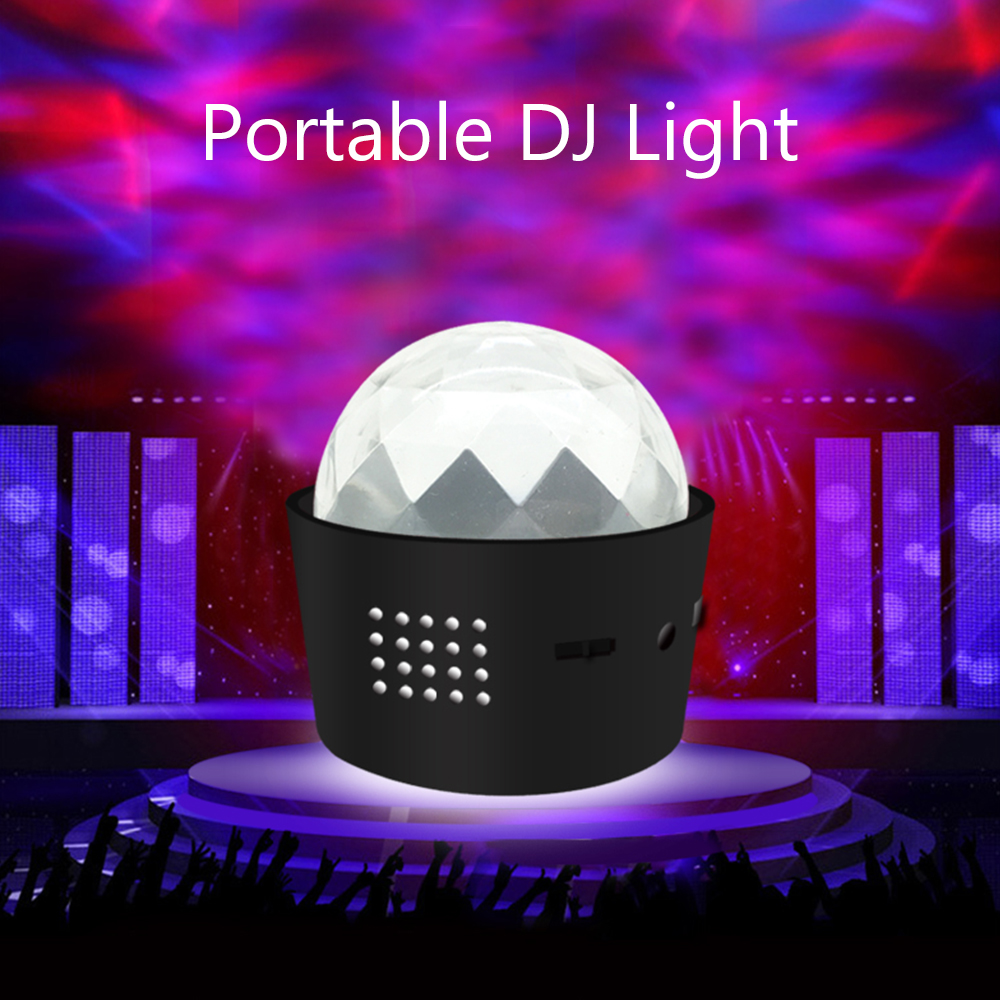 Mini USB LED Voice Activated Crystal Magic Ball Led Stage Disco Ball Projector Party Lights Flash DJ Lights For Home KTV Bar Car