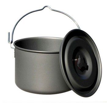 2019 new Outdoor single pot aluminum alloy camping pot 5 8 marching pot picnic cauldron|Outdoor Tablewares|Sports & Entertainment -