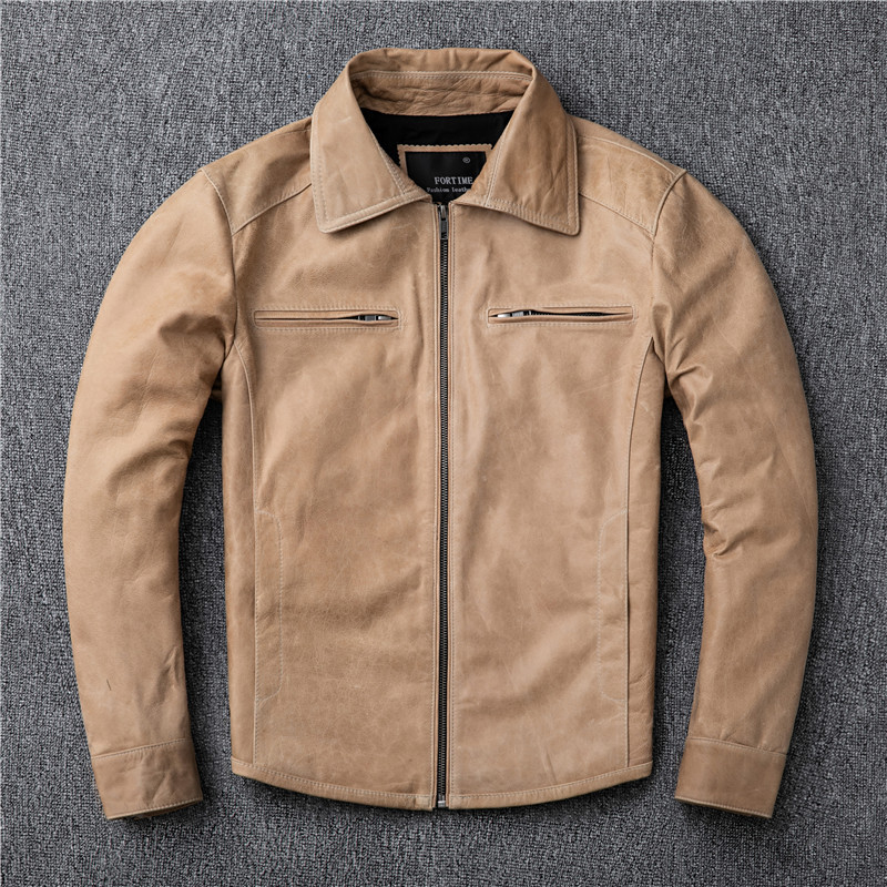 New Real Leather Jacket Men Clothes 2020 Streetwear Fashion Mens 100% Sheepskin Coat Slim Fit Genuine Leather Coats 17573