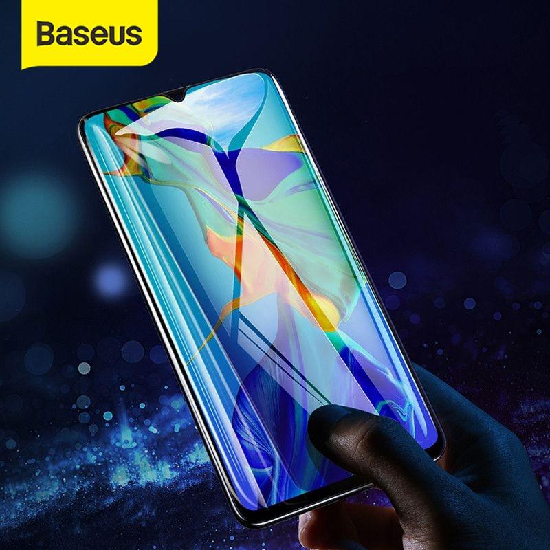 Baseus フルカバレッジ保護 huawei 社の P30 スクリーンプロテクター 0.3 ミリメートル超薄型強化ガラス huawei 社 P30 フロントフィルム -