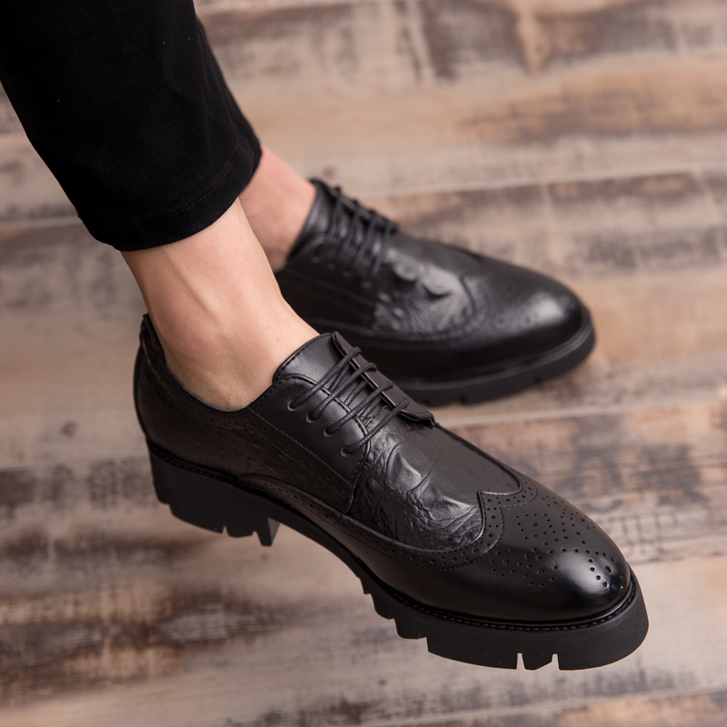 Handmade Classic formal shoes business dress men Fashion Party Office Wedding Dress Shoes Male Genuine Leather Men Oxford Shoes