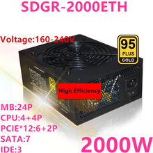 PSU Power-Supply SDGR-2000ETH Thunderobot 2000W 1800W Full-Module New for Supports 6-Card