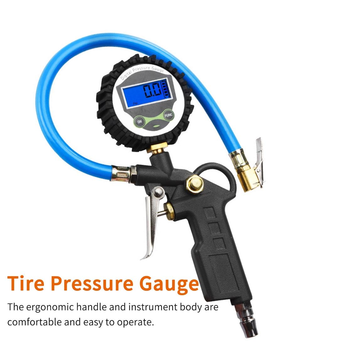 0-220 PSI 0-16Bar Tire Pressure Monitor Pressure Gauge Automobile Car Truck Air Tire Inflator With Gauge Dial Meter Tester