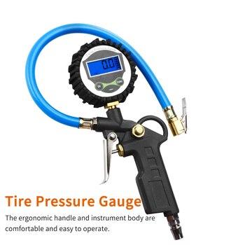 0 220 PSI 0 16Bar مراقبة ضغط الإطارات قياس الضغط سيارة متنقلة تلقائيًا شاحنة الهواء منفاخ لإطارات السيارة مع مقياس الاتصال الهاتفي متر-في أنظمة مراقبة ضغط الإطارات من السيارات والدراجات النارية على