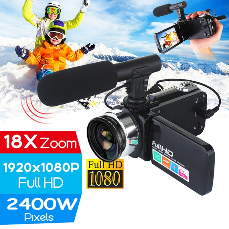 1 Pc Professional 24MP Camcorder Digital Video Camera Night Vision 3 Inch LCD Touch Screen 18x Digital Zoom Camera Recorder