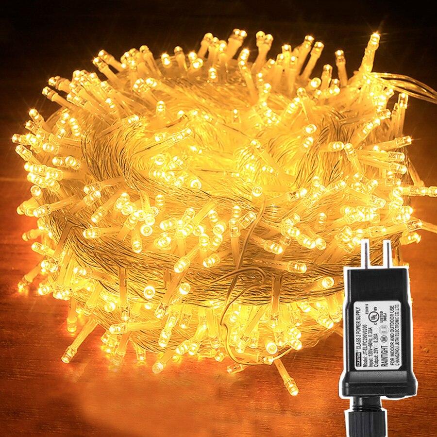 Thrisdar 20M 30M 50M 100M LED String Fairy Light DC24V Safe Voltage Outdoor Christmas Holiday Party Wedding String Light Garland