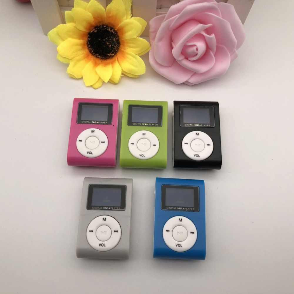 Pequeño tamaño portátil reproductor de MP3 Mini pantalla LCD reproductor de MP3 reproductor de música soporte Tarjeta de 32GB TF mejor regalo