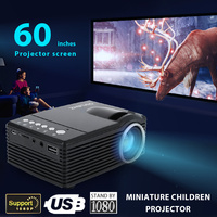 SD30 Mini Portable LED Projector 1080P for home movie entertainment with 60 inch projector screen+Waterproof bag