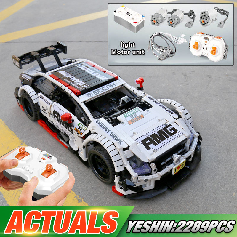 Yeshin Technic Car Toys Compatible With Lepining MOC-6688 AMG C63 DTM Car Model Building Blocks Bricks Kids Christmas Toys Gifts