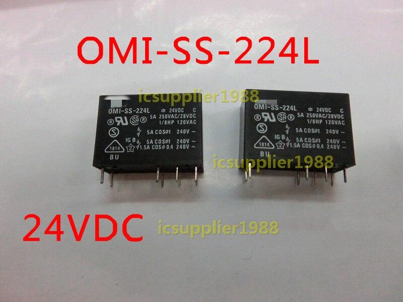 OMI-SS-224L 24VDC 5A 8 Feet 24V Relay DIP8 5pcs/lot