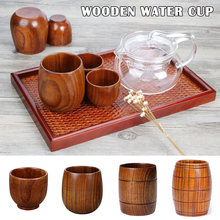 Solid Jujube Mug Wooden Coffee Beer Mugs Wood Drinking Cup Handmade Tea Cup Home Office QP2(China)