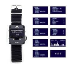 DSTIKE Deauther 손목 밴드 WiFi 공격/제어/테스트 도구 ESP 07 1.3OLED 600mAh 배터리 RGB LED no PB ESP8266