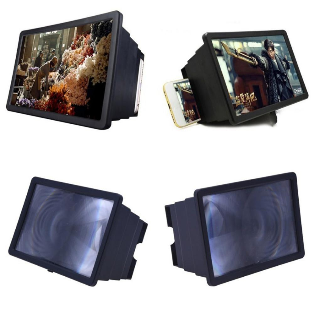 Telescopic Mobile Phone Gadget 3D Screen Magnifier Video Enlarge Stand Holder Foldable Phone Screen Amplifier Case
