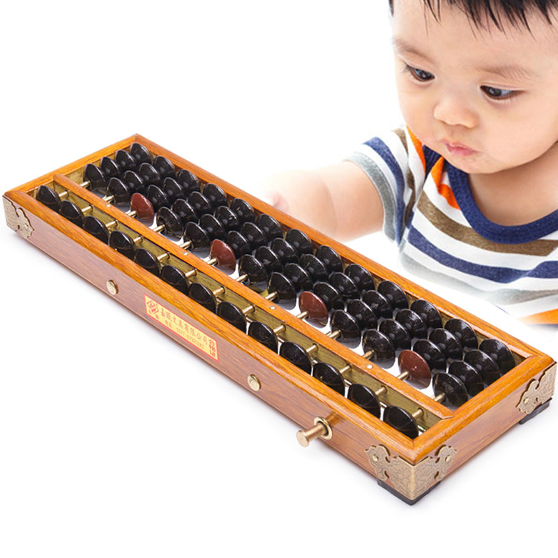 1pcs Wooden Frame Classic Ancient Calculator Abacus Soroban Bead Toy Develop Kid's Mathematics Abacus Intelligence