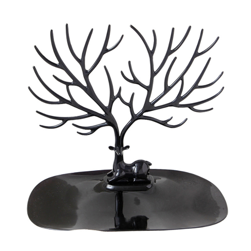 Ailodo Deer Earrings Necklace Ring Pendant Bracelet Jewelry Display Stand Tray Tree Storage jewelry Organizer Holder 19DEC40