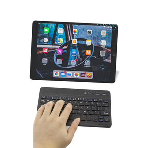 Teclado Mini portátil inalámbrico Bluetooth CHYI teclado ergonómico delgado para juegos teclado para Ipad tableta Android/Apple IOS ordenador portátil Smatrphone