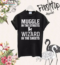 T Shirt Hot Sale Clothes Funny Casual Brand Shirts Top Muggle In The Streets Wizard Sheet Tee Cursed Child