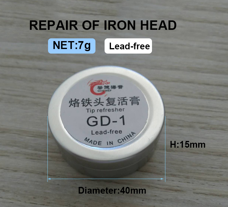 Gudhep 7g Lead Free New Soldering Iron Tip Refresher Solder Cream Clean Paste For Oxide Solder Iron