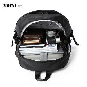 Image 5 - MOYYI Chống Trộm Nam Ba Lô Chống Nước Laptop Túi Sạc USB Gói Hành Lý Ba Lô Siêu Nhẹ Trường Túi