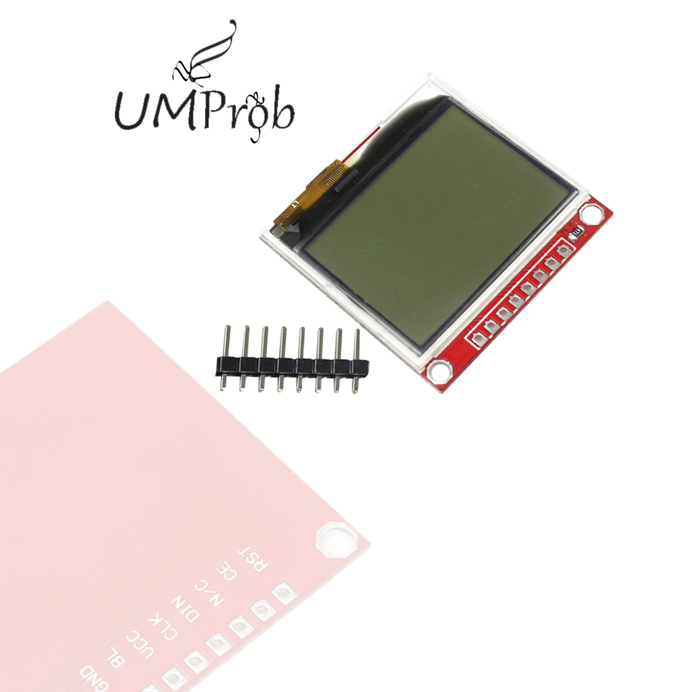 3.3V Upgrades 5110 LCD Module Display Monitor HX1230 96x68 Picture Text Display