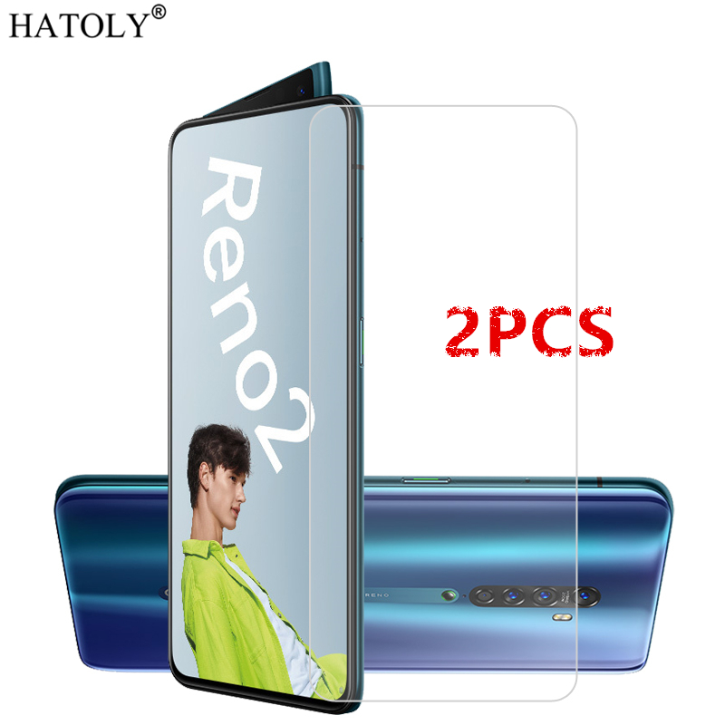 2Pcs For OPPO Reno 2 Glass For OPPO Reno 2 Tempered Glass Film HD 9H Hard Phone Screen Protector Protective Glass For Reno 2