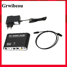 Grwibeou 5.1 Channel Stereo Digital To Analog AC3 Audio Converter Optical SPDIF Coaxial AUX 3.5mm 2 6RCA Sound Decoder Amplifier