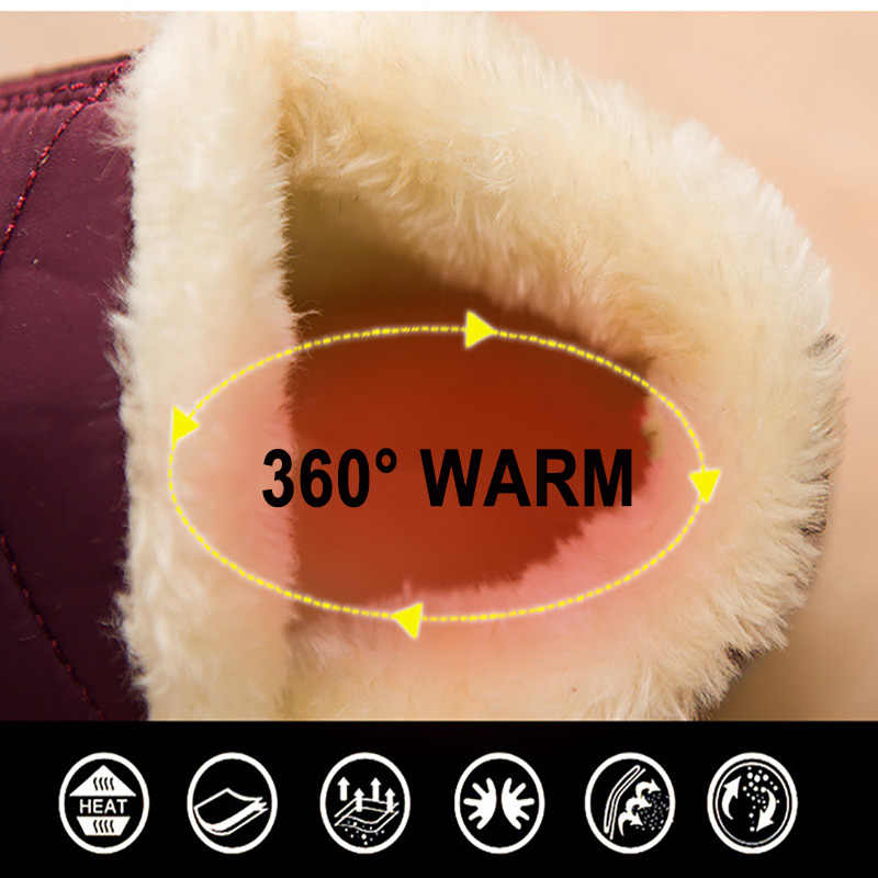 Warm Winter Snow Boots Women Ankle Boots Winter Women Shoes Waterproof Winter Boots Men Cotton Shoes Female Thick Fur Booties