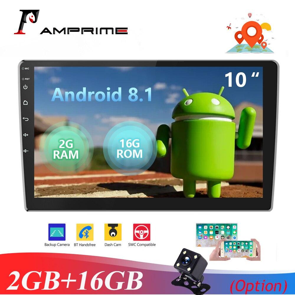 AMPrime Android 2Din 10,1 ''HD 1080P 2.5D Автомобильный мультимедийный плеер 2 + 16 Гб Авторадио Стерео Радио Bluetooth WIFI GPS FM радио