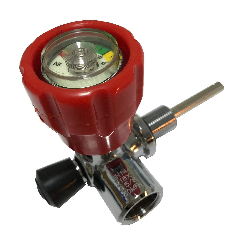 AC931 300Bar Din Gauge  Valve PCP High Pressure Cylinder Valve Paintball Tank Red Safety Valve For PCP Air Gun Pistol