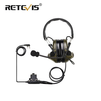 Retevis EHK007 Electronic Pickup and Noise Reduction Headphones For Kenwood 2 Pin/ For Motorola 2 Pin Walkie Talkie Headset