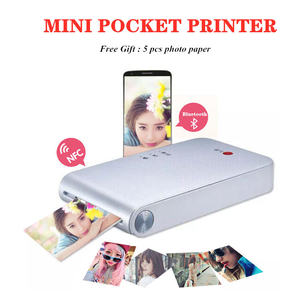 313dpi Color Printer Portable Photo Pocket Printer Mini Portable DIY Photo Printers for Smartphones Bluetooth Printing