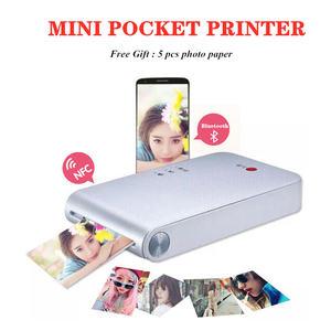 313dpi Color Printer Portable Photo Pocket Printer Mini Portable DIY Photo Printers for Smartphones Bluetooth Printing