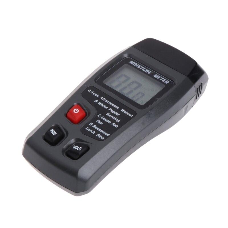 Wood Moisture Meter Analyzer Humidity Tester Timber Damp Detector Hygrometer 2 Pin 28tc