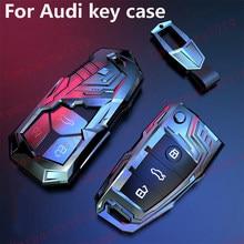 Chave do carro da Tampa Do Caso shell fob Para Audi A1 A3 Q2L Q3 S3 S5 S6 R8 TT TTS 2020 Q7 Q5 A6 A4 A4L Q5L A5 A6L A7 A8 Q8 S4 S8 acessórios